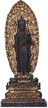 Wooden eleven-faced Kannon statue