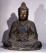 Wooden statue of Sacred Kannon