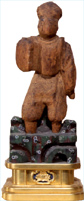 Wooden Den Inari God Statue
